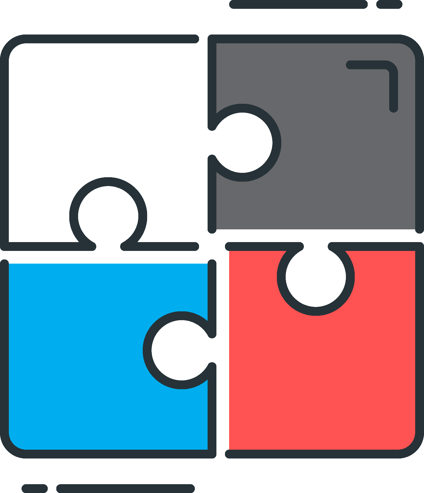 puzzle pieces illustrating comprehensive financial planning