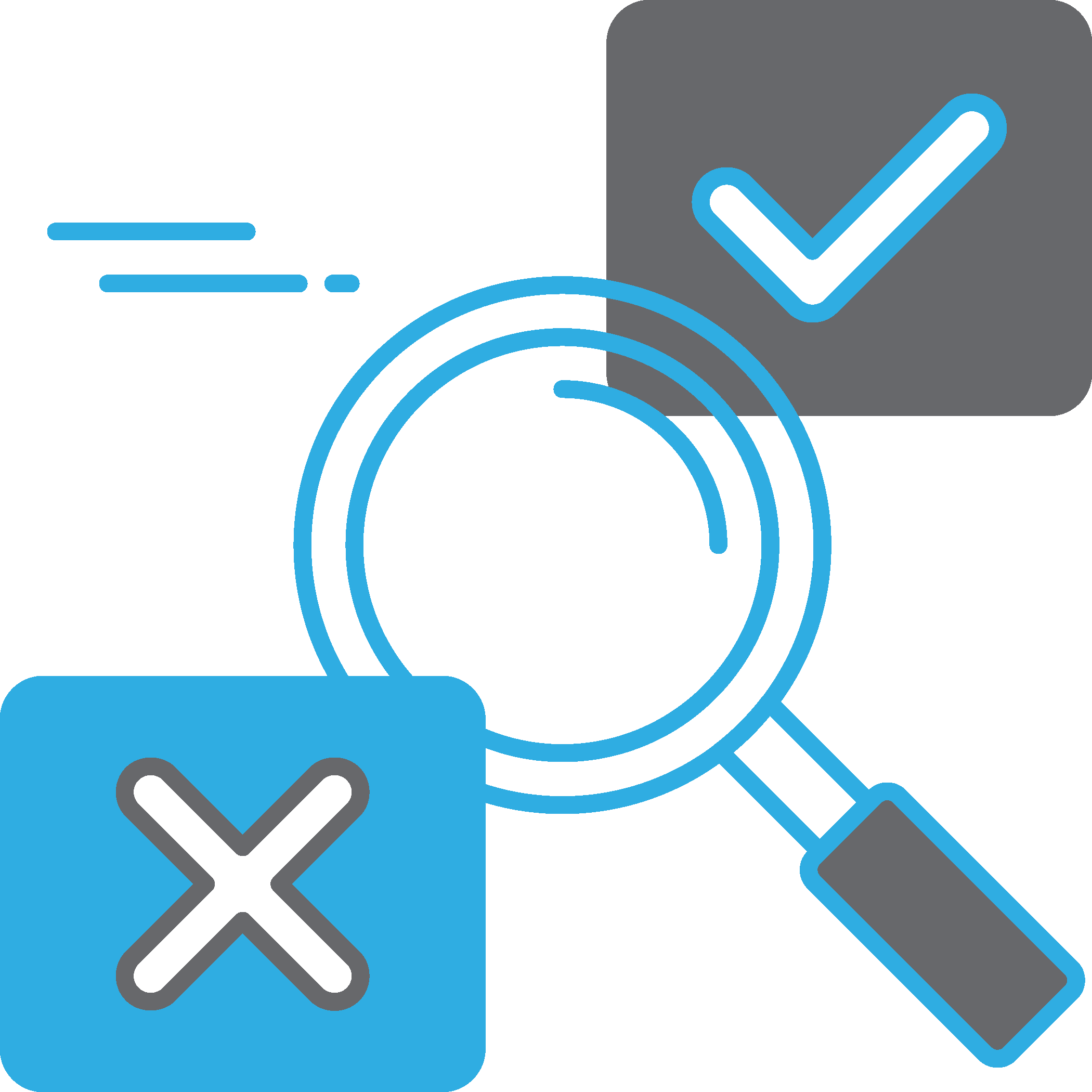 magnifying glass illustrating investment research